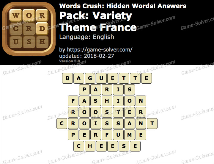 Words Crush Variety-Theme France Answers