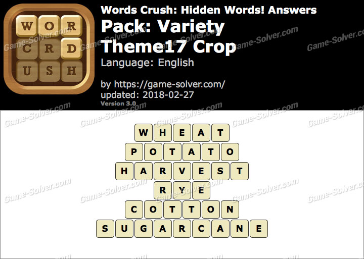 Words Crush Variety-Theme17 Crop Answers