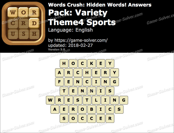Words Crush Variety-Theme4 Sports Answers