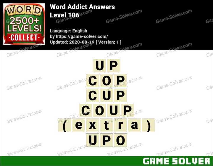 Word Addict Level 106 Answers