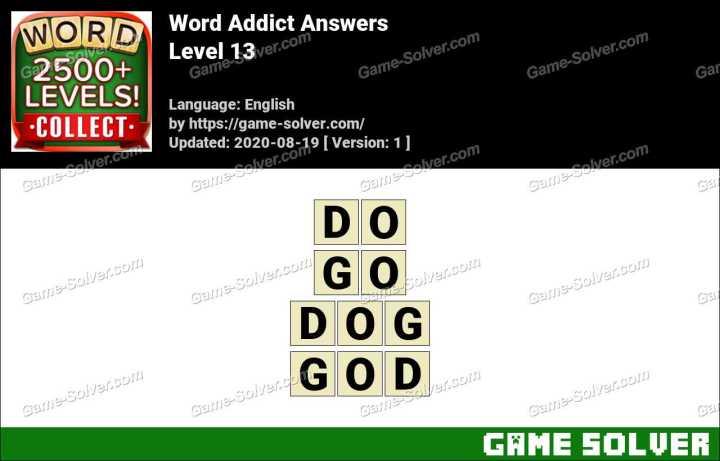 Word Addict Level 13 Answers