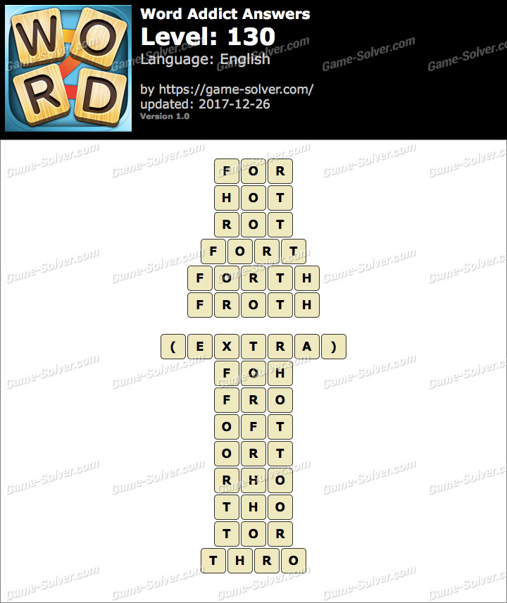 Word Addict Level 130 Answers