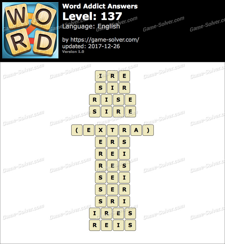 Word Addict Level 137 Answers