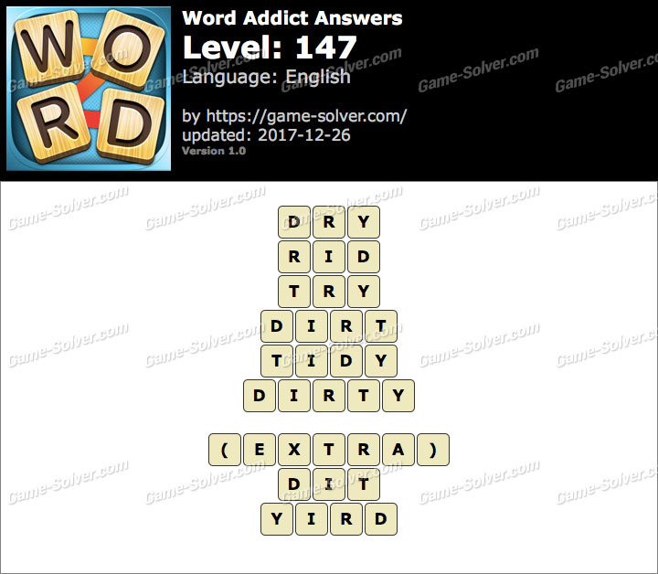 Word Addict Level 147 Answers