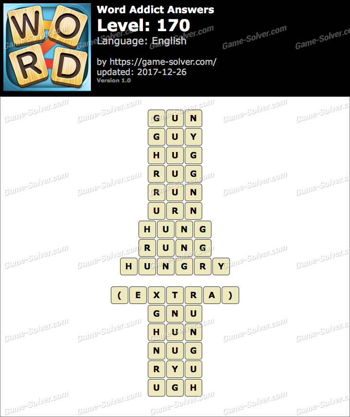 Word Addict Level 170 Answers