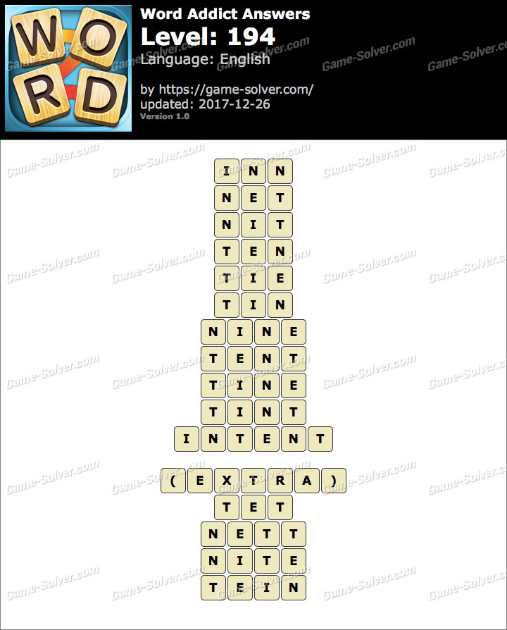 Word Addict Level 194 Answers