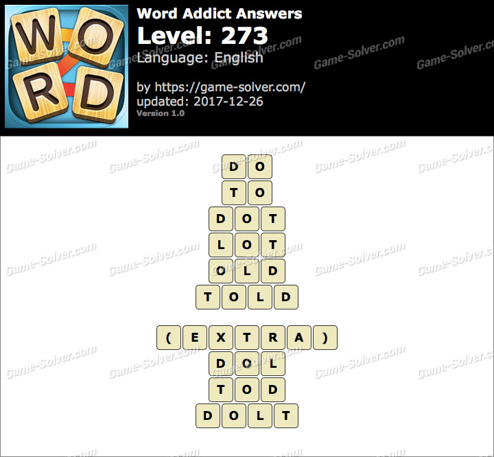 Word Addict Level 273 Answers