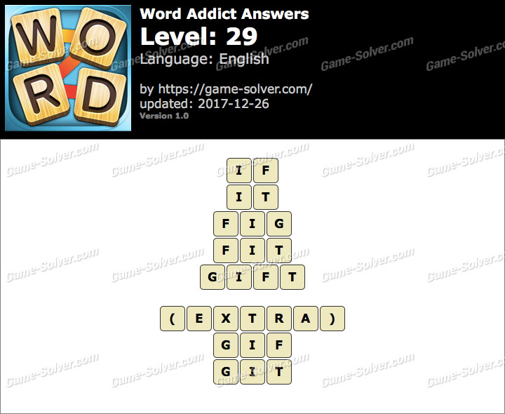 Word Addict Level 29 Answers