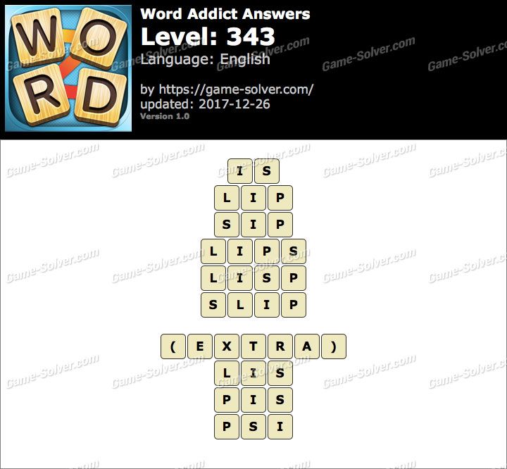 Word Addict Level 343 Answers