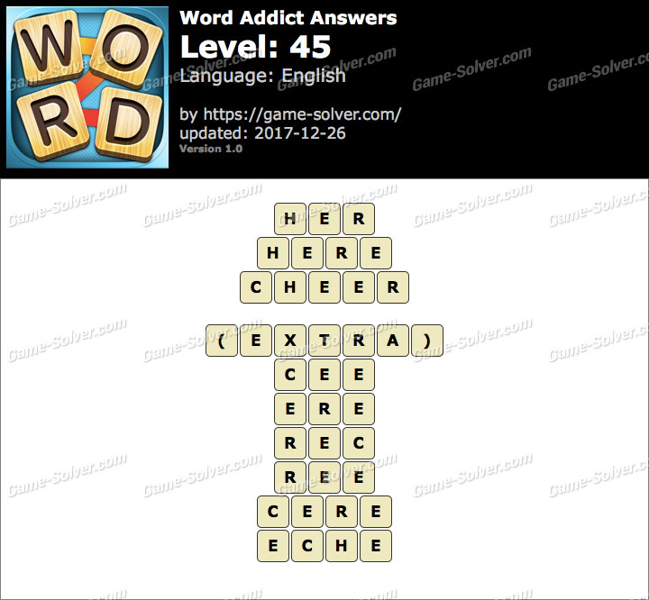 Word Addict Level 45 Answers