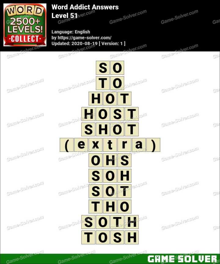 Word Addict Level 51 Answers