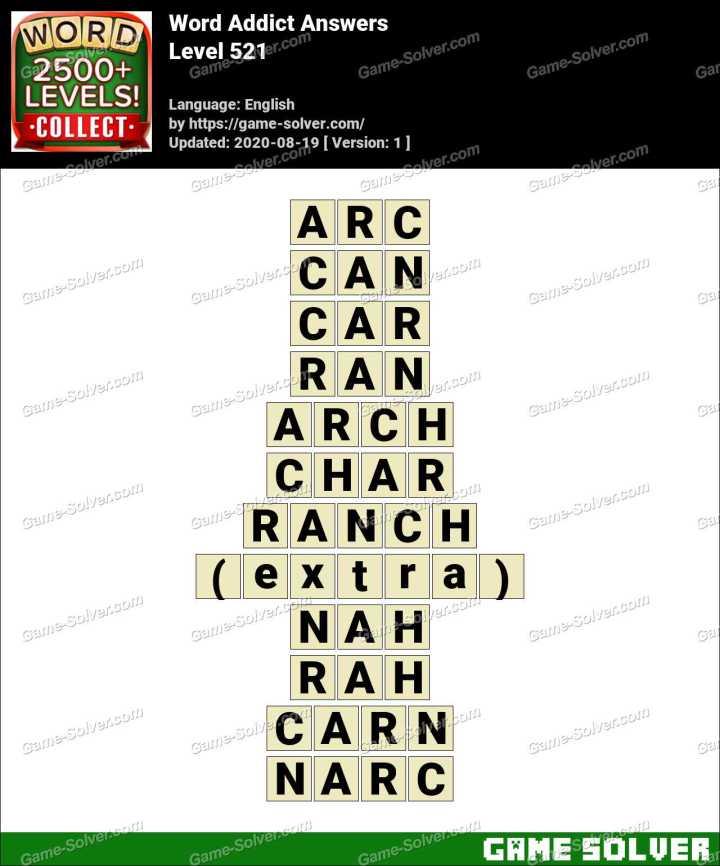 Word Addict Level 521 Answers