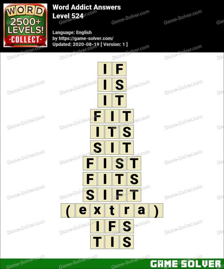Word Addict Level 524 Answers