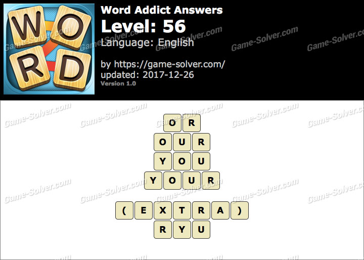 Word Addict Level 56 Answers
