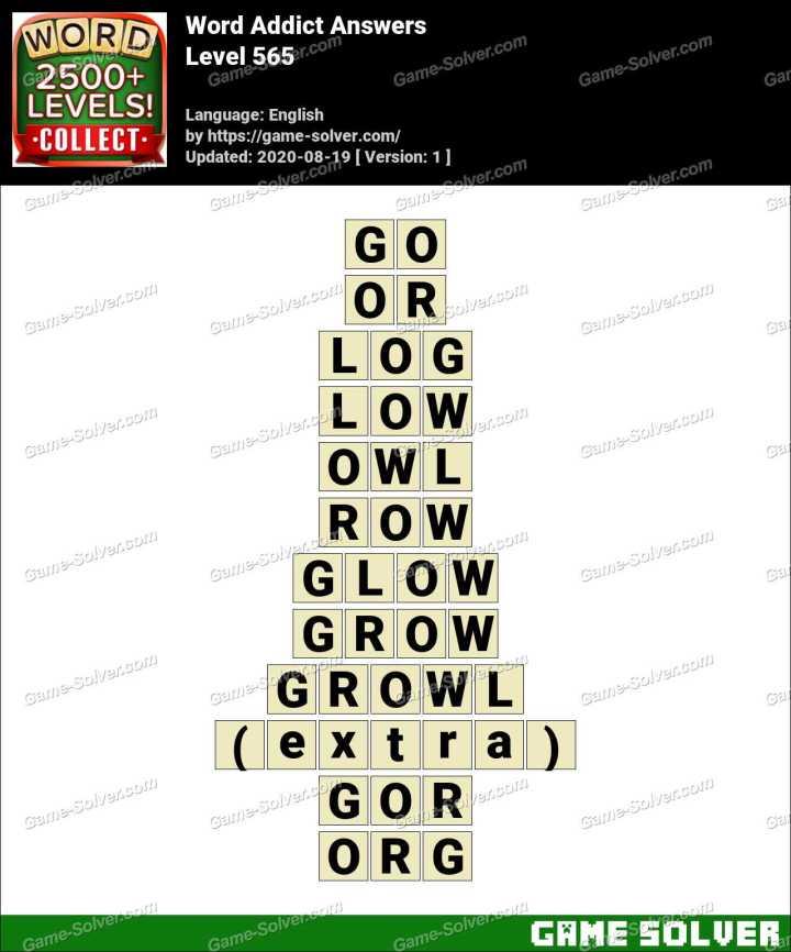 Word Addict Level 565 Answers