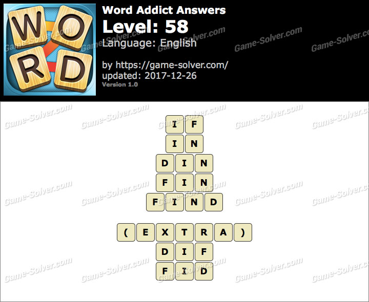 Word Addict Level 58 Answers