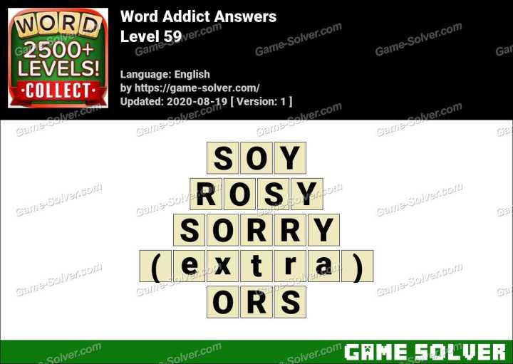 Word Addict Level 59 Answers
