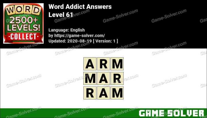 Word Addict Level 61 Answers