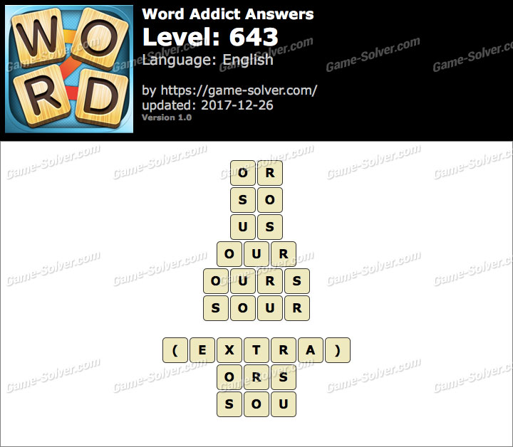Word Addict Level 643 Answers