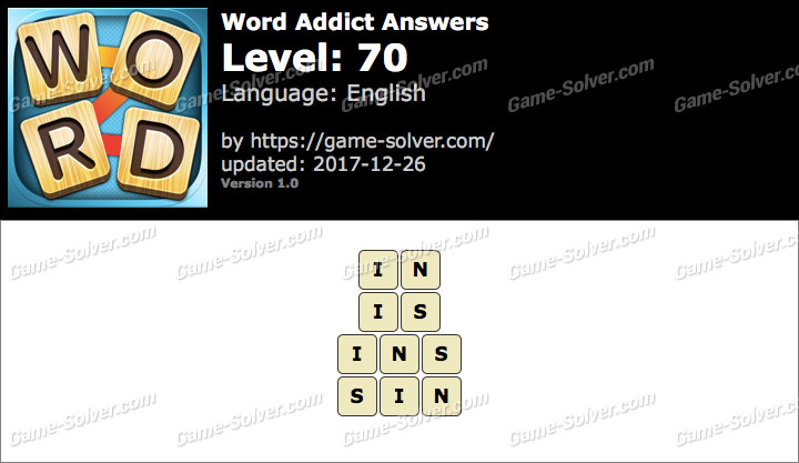 Word Addict Level 70 Answers