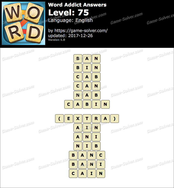 Word Addict Level 75 Answers