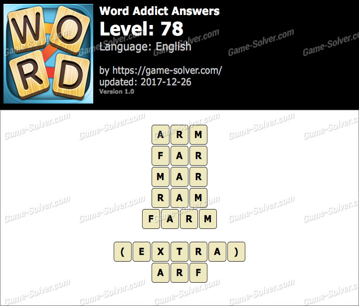 Word Addict Level 78 Answers