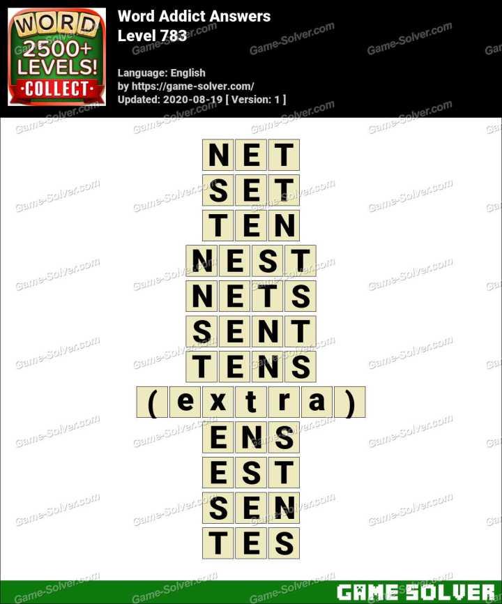 Word Addict Level 783 Answers