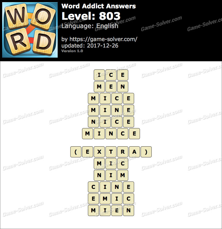 Word Addict Level 803 Answers