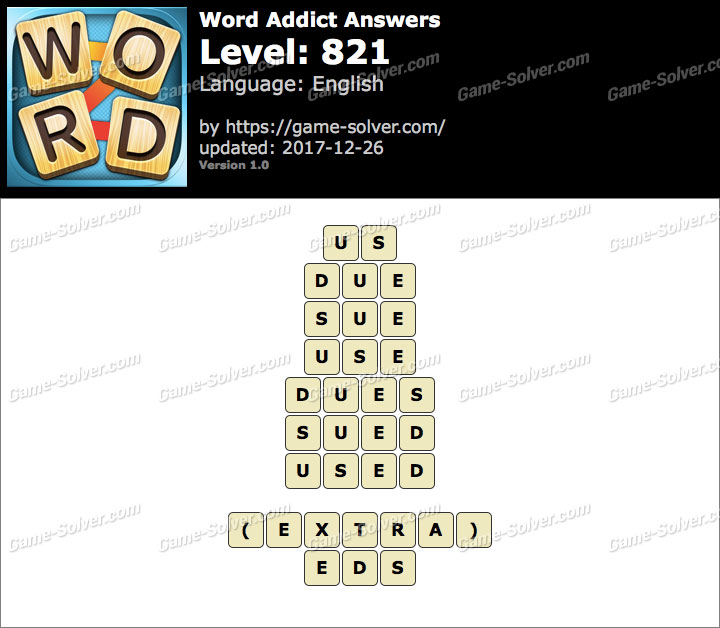 Word Addict Level 821 Answers