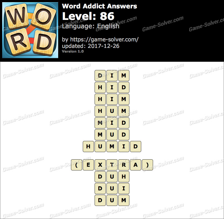 Word Addict Level 86 Answers