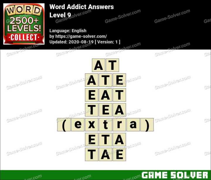 Word Addict Level 9 Answers