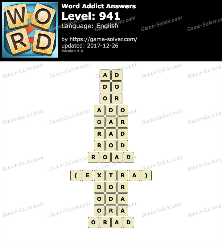 Word Addict Level 941 Answers