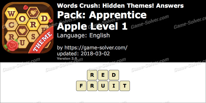 Words Crush Apprentice-Apple Level 1 Answers