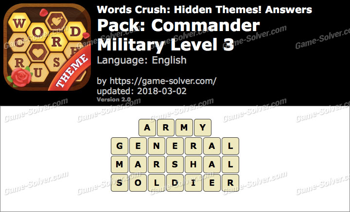 Words Crush Commander-Military Level 3 Answers