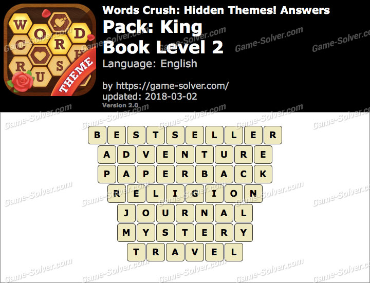 Words Crush King-Book Level 2 Answers