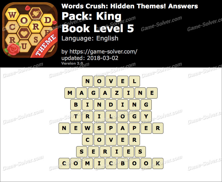 Words Crush King-Book Level 5 Answers