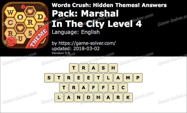 Words Crush Marshal-In The City Level 4 Answers