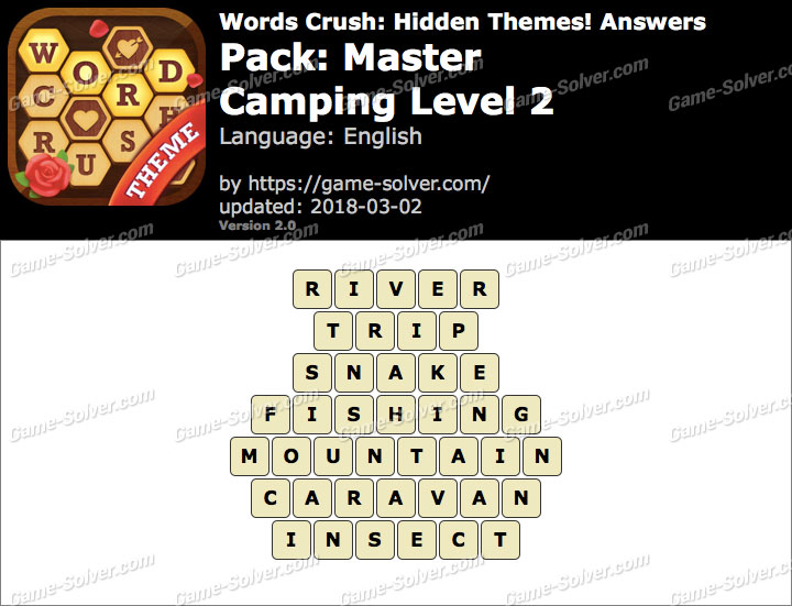 Words Crush Master-Camping Level 2 Answers