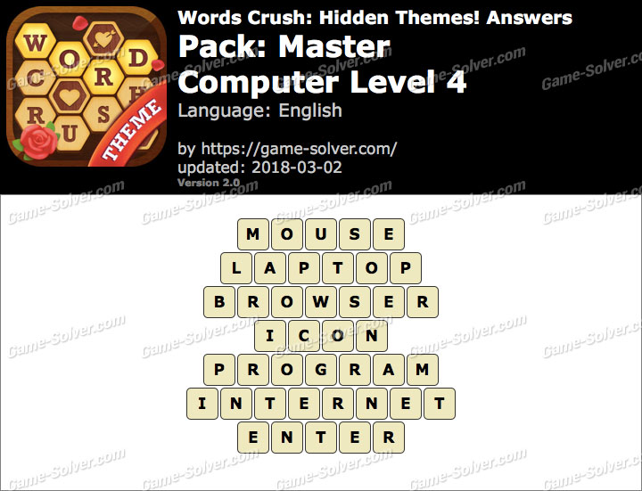 Words Crush Master-Computer Level 4 Answers