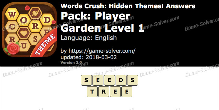 Words Crush Player-Garden Level 1 Answers