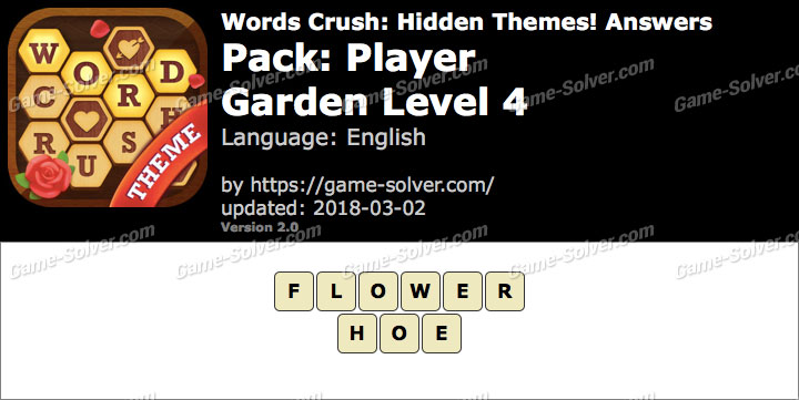 Words Crush Player-Garden Level 4 Answers
