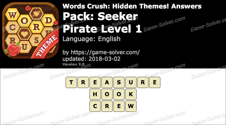 Words Crush Seeker-Pirate Level 1 Answers