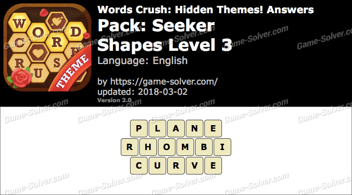 Words Crush Seeker-Shapes Level 3 Answers