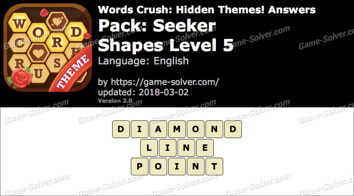 Words Crush Seeker-Shapes Level 5 Answers