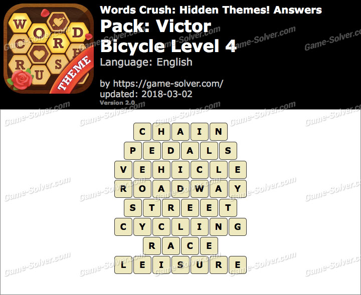 Words Crush Victor-Bicycle Level 4 Answers