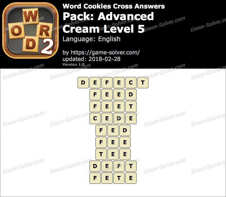 Word Cookies Cross Advanced-Cream Level 5 Answers
