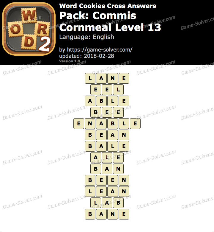 Word Cookies Cross Commis-Cornmeal Level 13 Answers