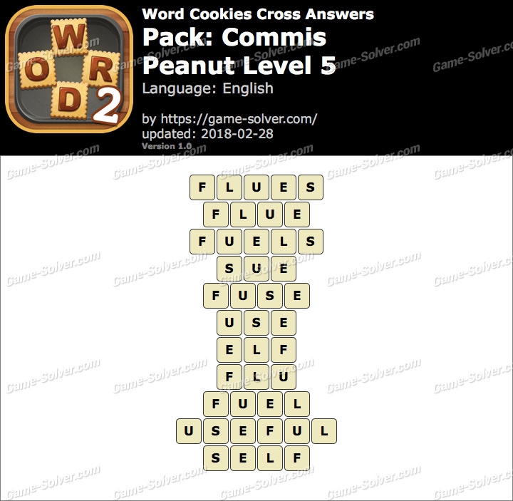 Word Cookies Cross Commis-Peanut Level 5 Answers