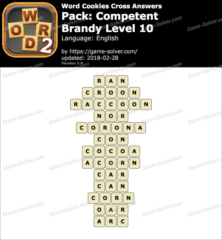 Word Cookies Cross Competent-Brandy Level 10 Answers
