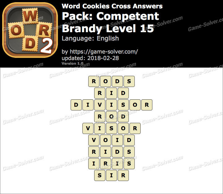 Word Cookies Cross Competent-Brandy Level 15 Answers